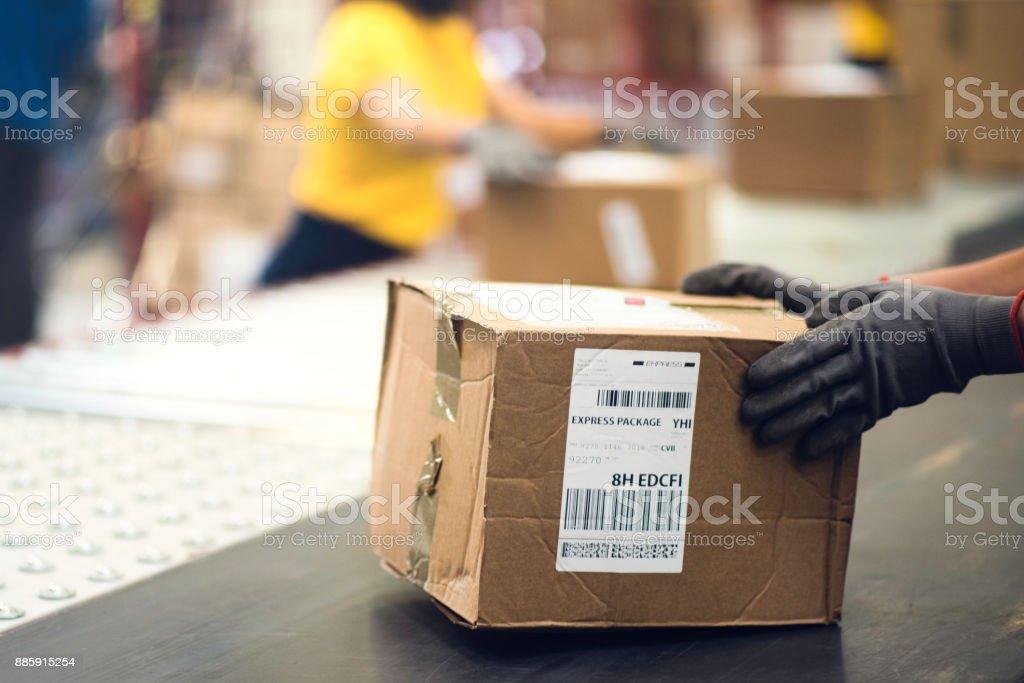Handhabung ein package – Foto