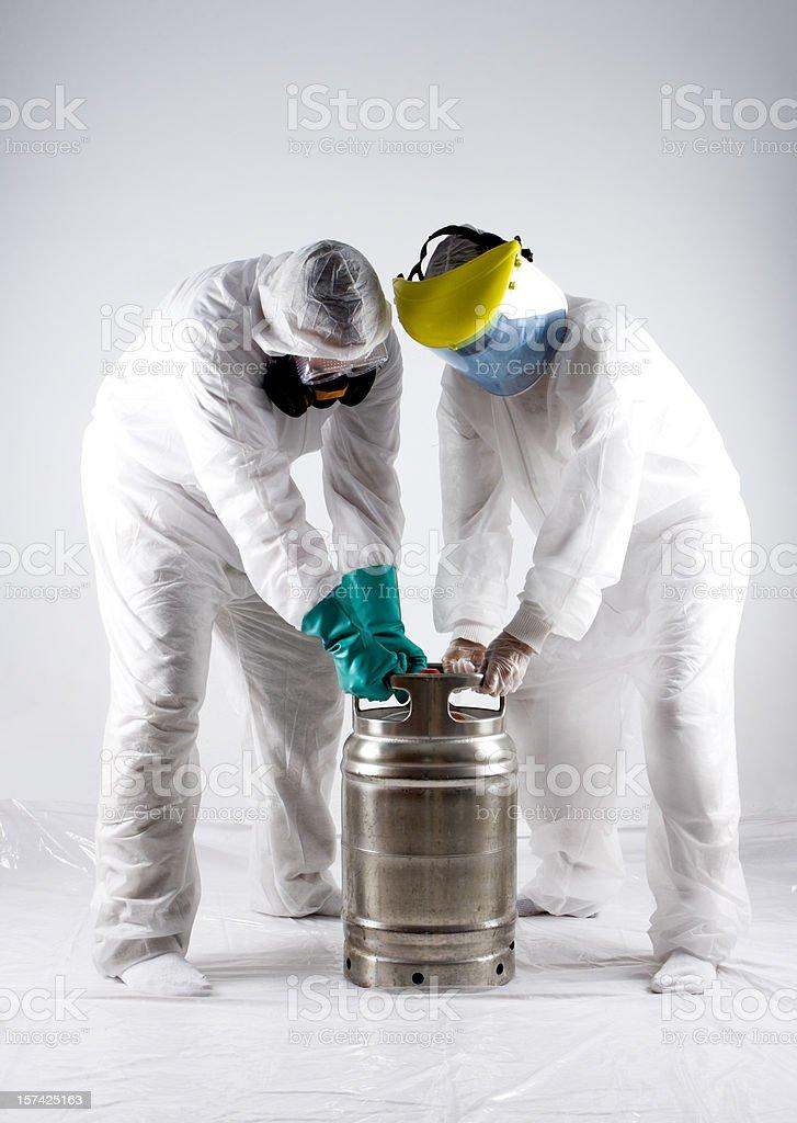 Handling Hazardous Materials stock photo
