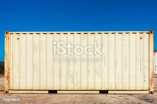 697974610 istock photo Handling stack of container shipping, Transportation business. 700648926