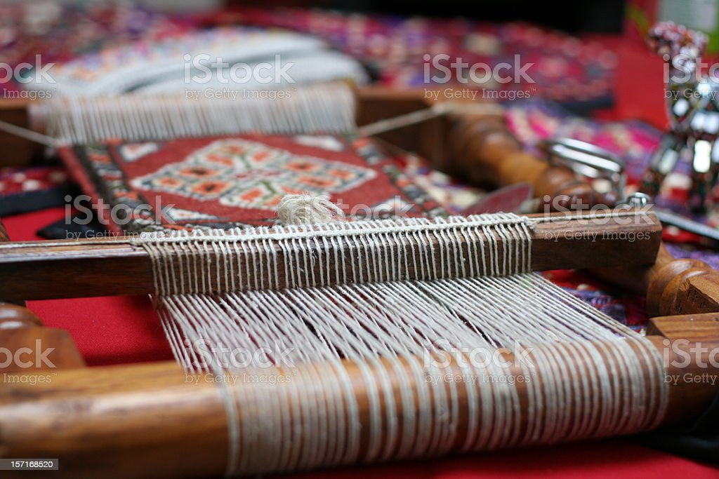 Handloom stock photo