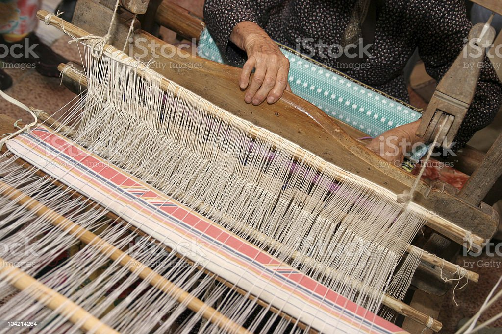 handloom weaving royalty-free stock photo