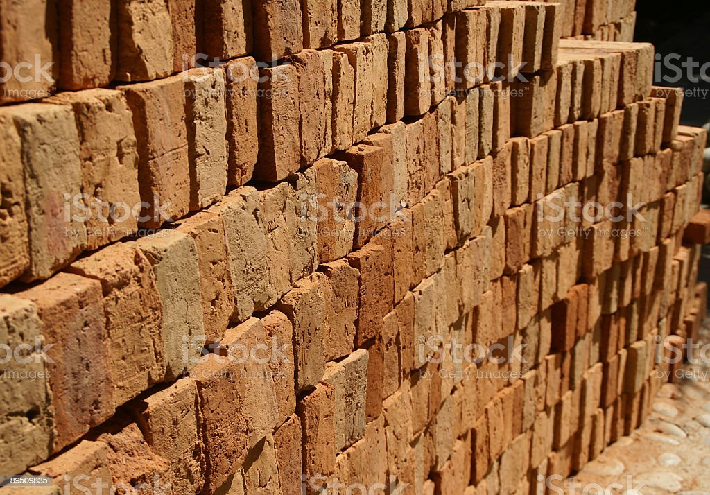 Handmade Adobe Bricks royalty-free stock photo
