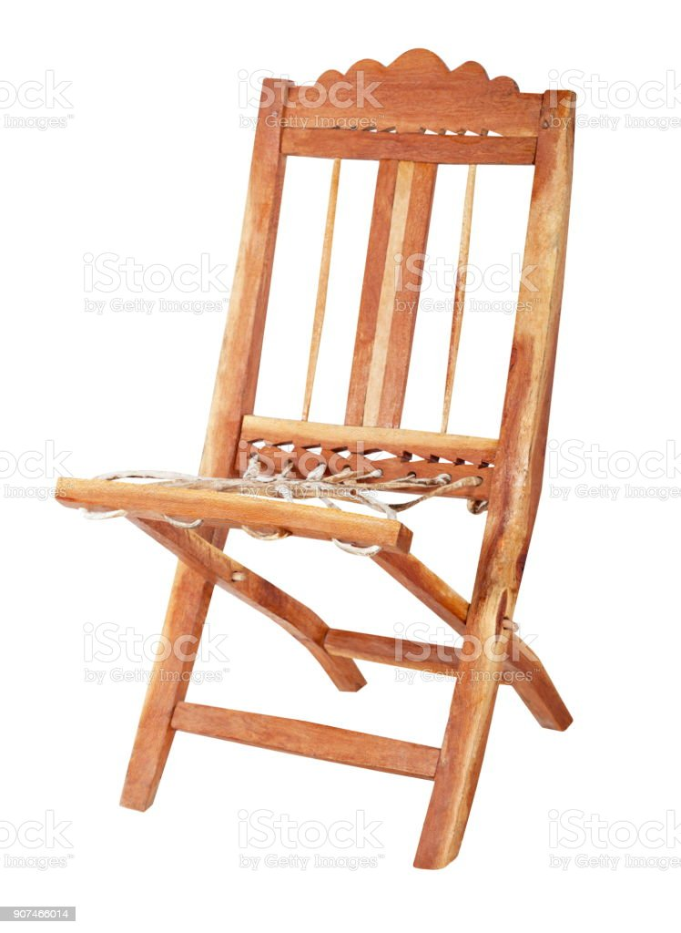 Handmade African chair stock photo