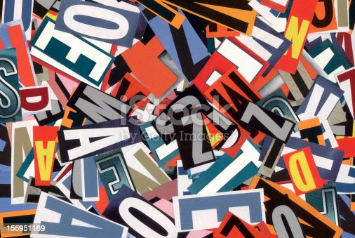 istock Handmade alphabet collage of magazine letters 155951169