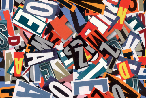 istock Handmade alphabet collage of magazine letters 155951169