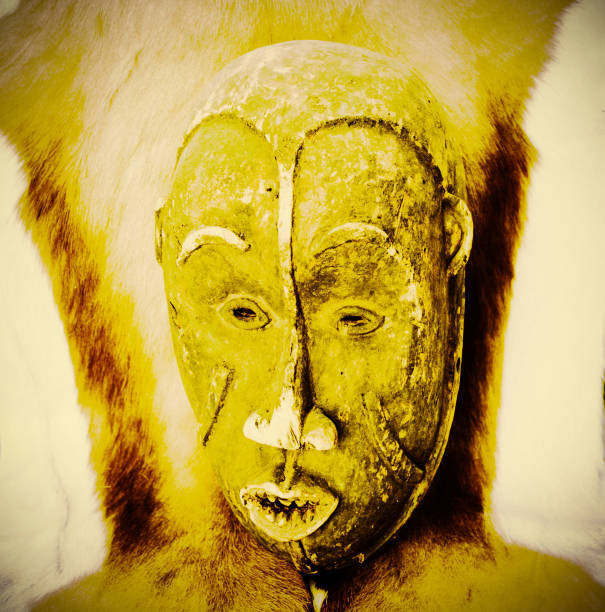 Handmade antique mask stock photo