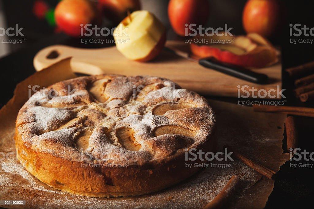 Tarte aux pommes maison photo libre de droits