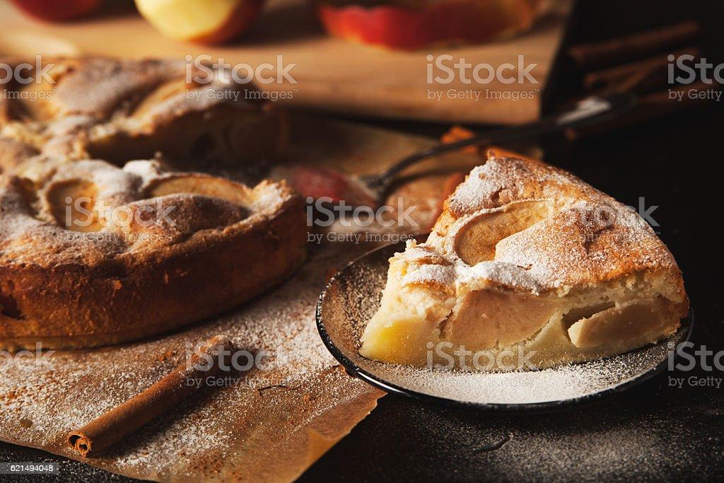 Torta di mele fatta a mano foto stock royalty-free