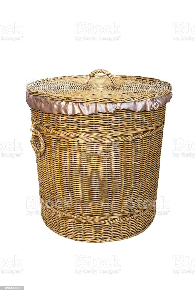 handmade Basket wicker royalty-free stock photo