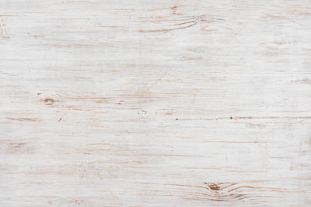 Handmade bleached wooden texture background, horizontally oriented image - Photo