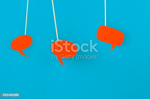 istock Handmade bubbles for speech 533460586