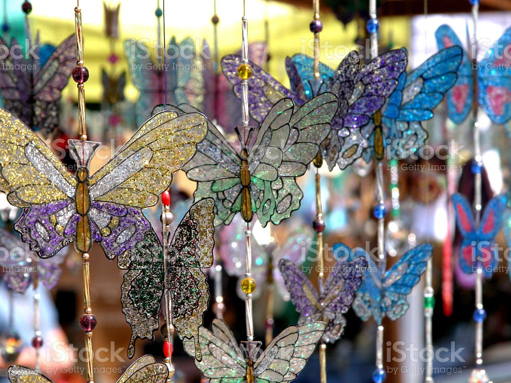 Hand-made Butterflies royalty-free stock photo