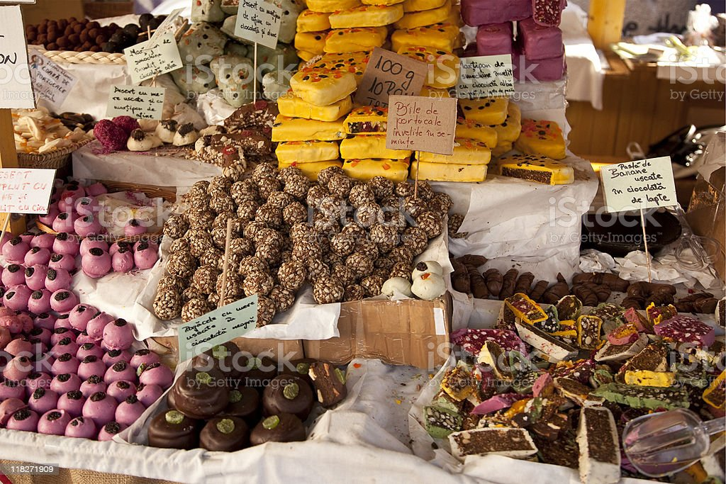 Handmade candy and dried fruits royalty-free stock photo