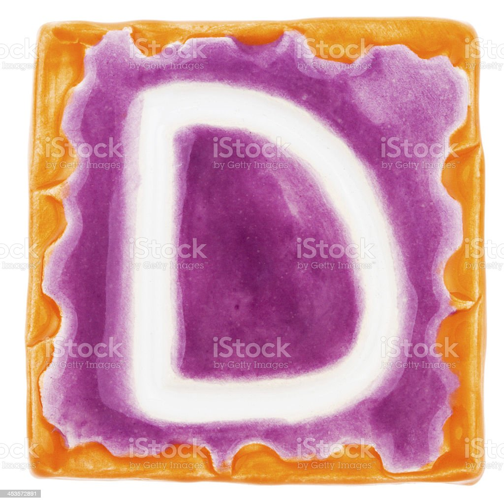 Handmade ceramic letter royalty-free stock photo