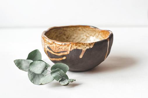 Handmade ceramics in the style of wabi sabi.