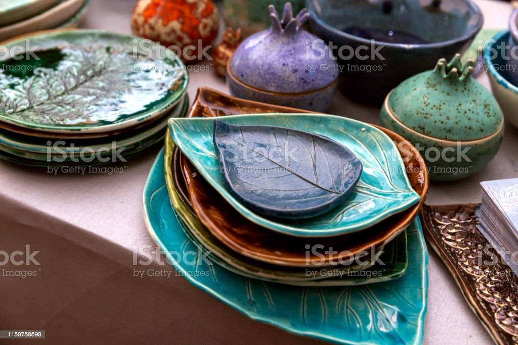 Handmade Ceramics On The Market Mugs Plates Stock Photo Download Image Now Istock