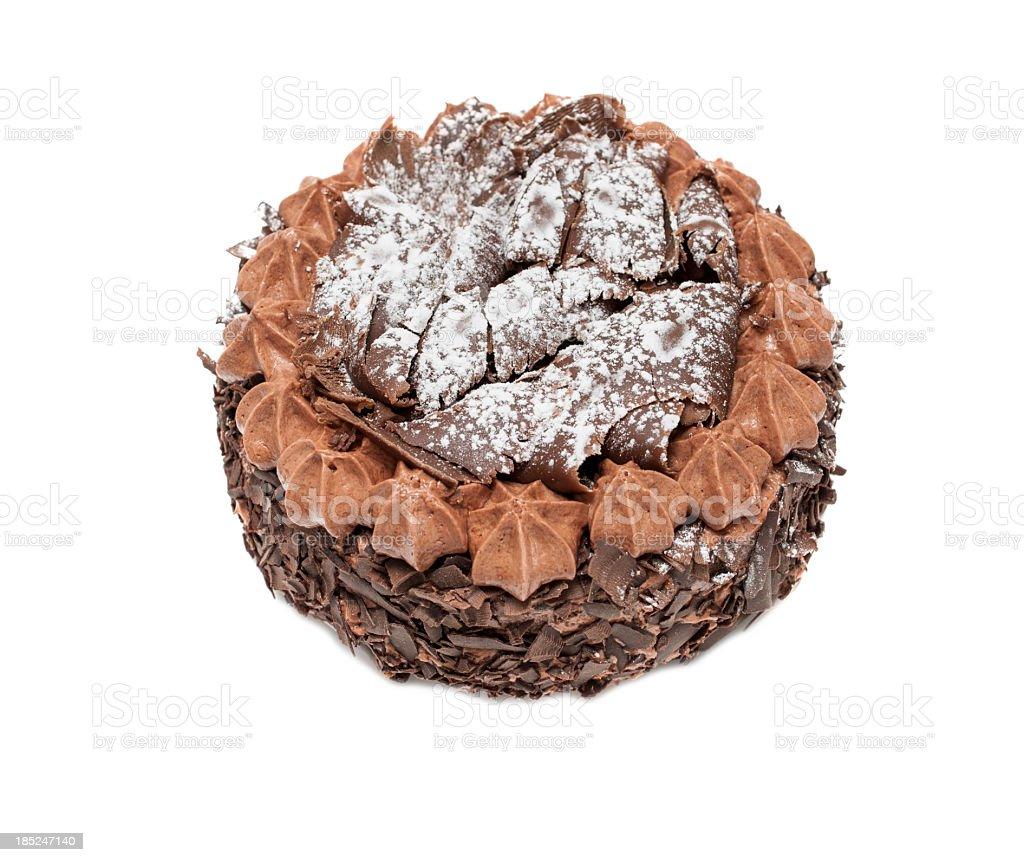 handmade Chocolate Buttercream Cake. stock photo