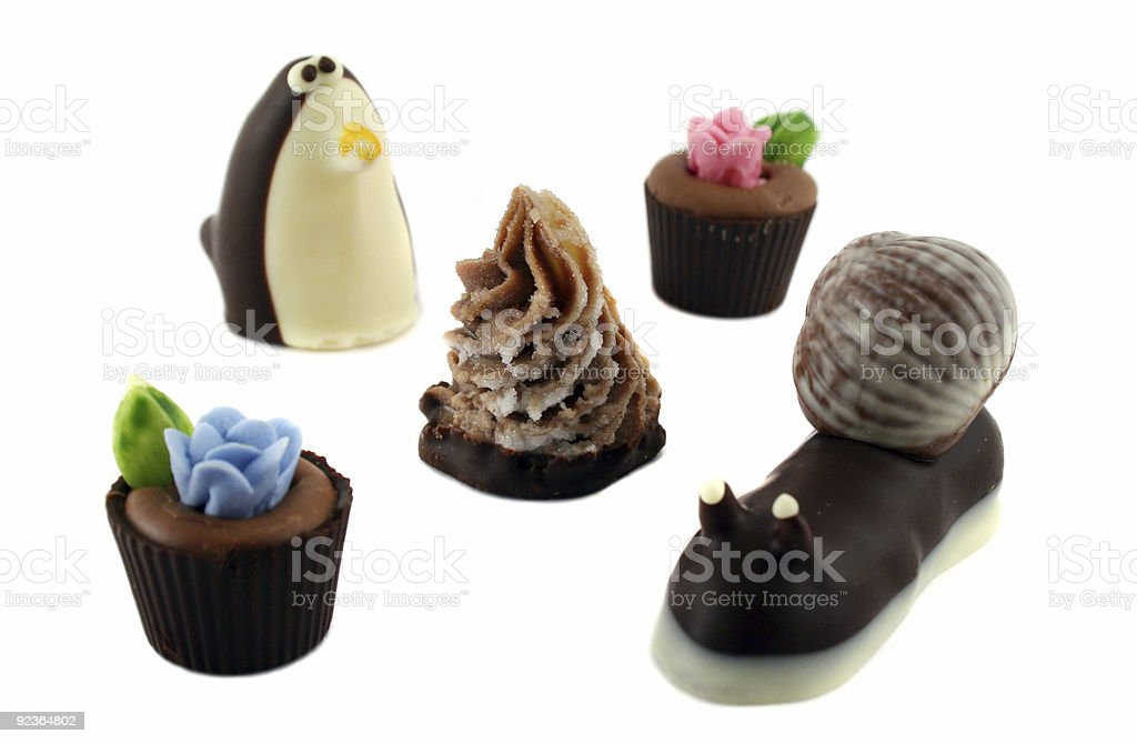 Handmade Chocolates royalty-free stock photo