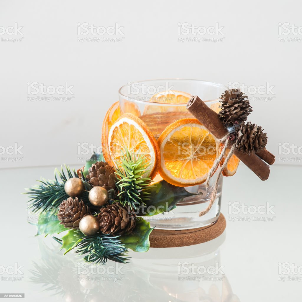 Tangerine Candle Holder Handmade