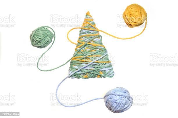Handmade christmas tree and thread balls isolated on white background picture id882470846?b=1&k=6&m=882470846&s=612x612&h=2pctaj5subl08y6yripnauoaw6wqx4j4z4m7rmf74 e=