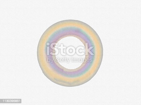 istock Handmade  circle drawing watercolour brush sketch on isolated white  background 1130395851