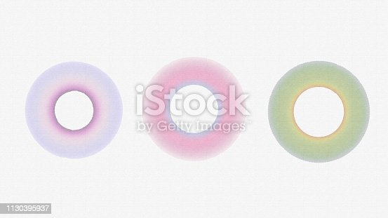 istock Handmade  circle drawing watercolour brush sketch on isolated white  background 1130395937