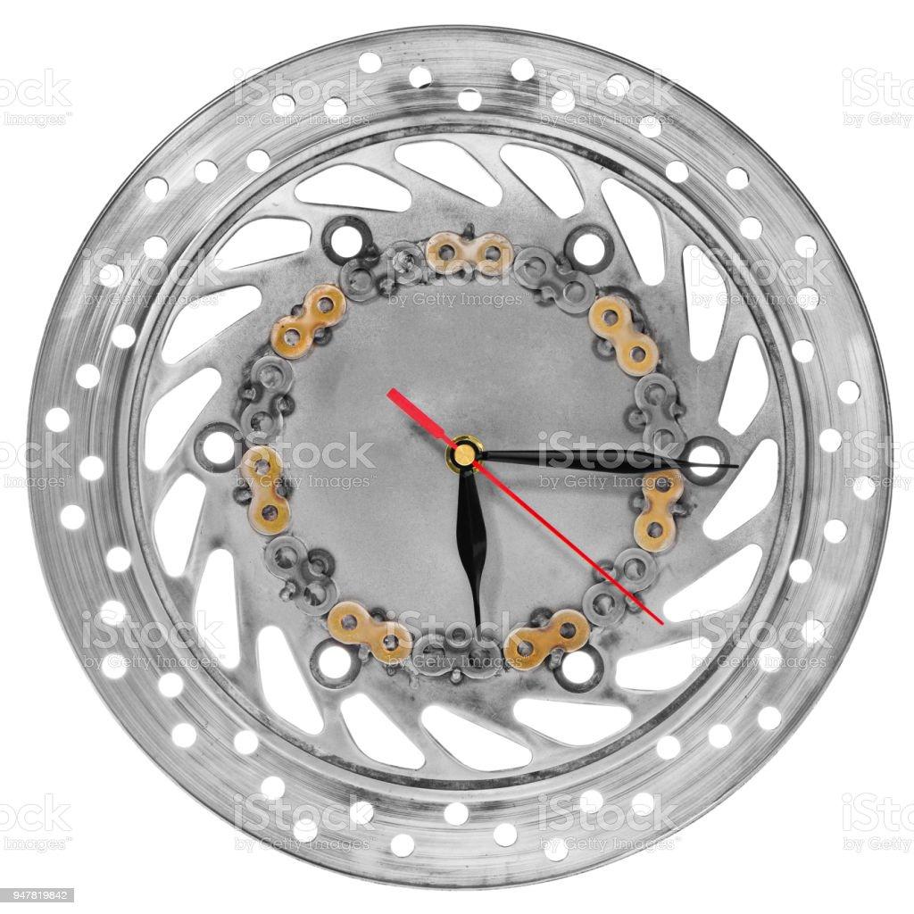 Handgefertigte Uhr Aus Der Motorradteile Ein Ziffernblatt Einer ...