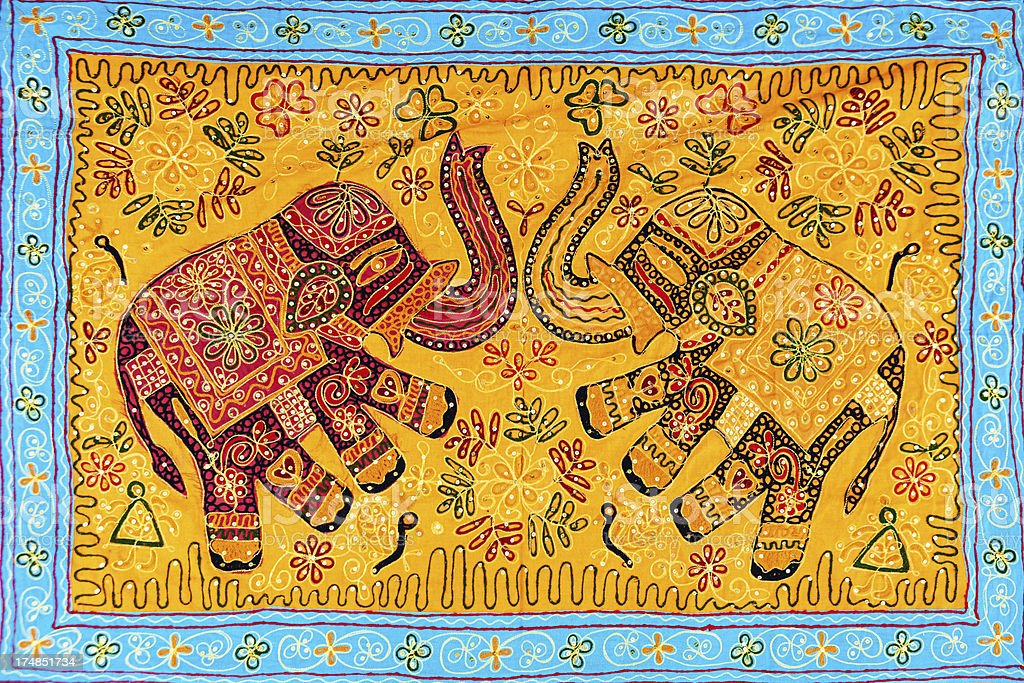 Handmade, colorful souvenirs from India royalty-free stock photo