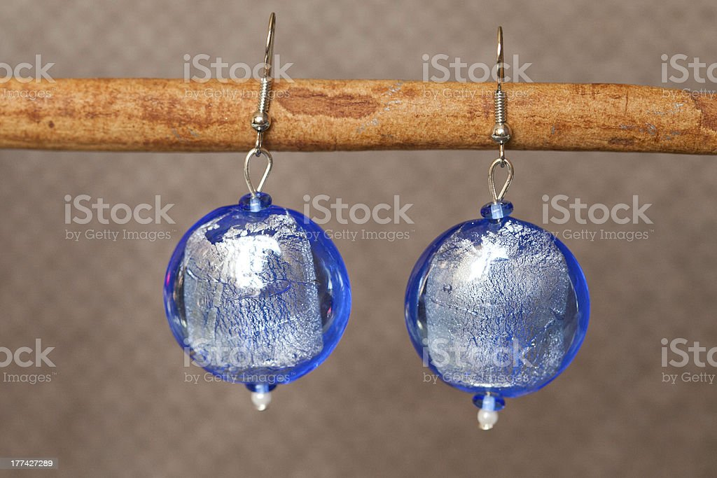 hand-made coloured earrings royalty-free stock photo