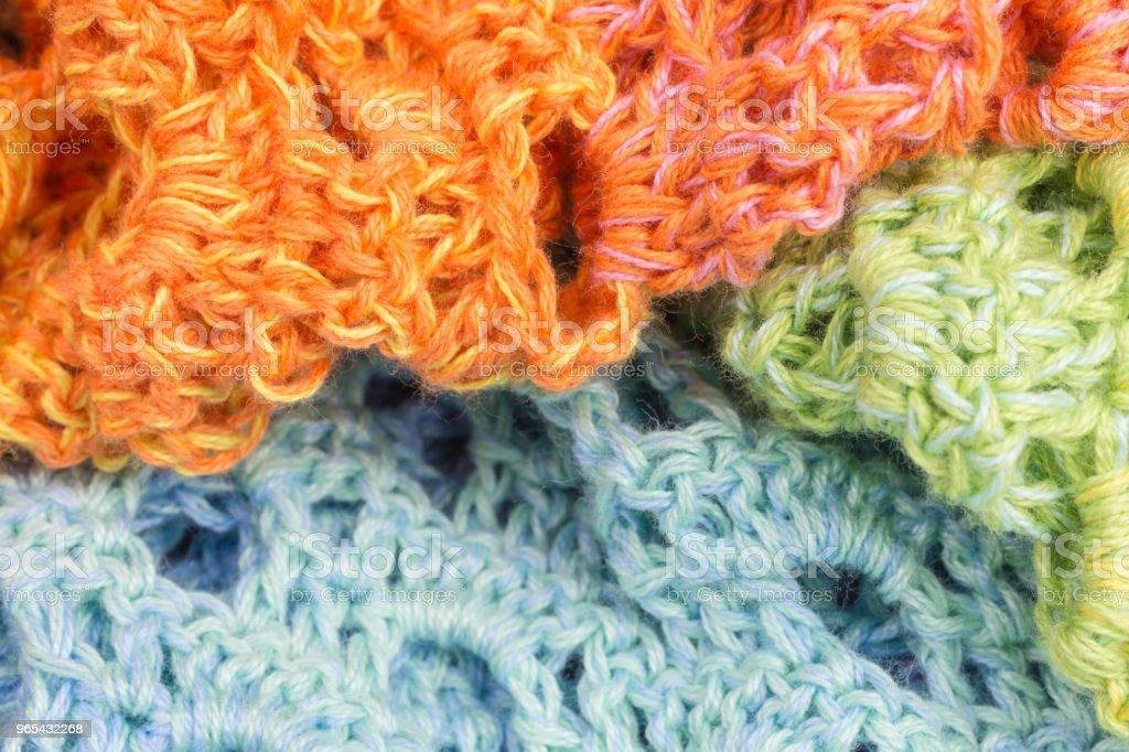 handmade crochet background zbiór zdjęć royalty-free