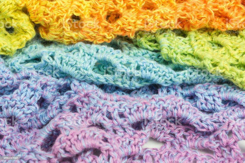 handmade crochet background royalty-free stock photo