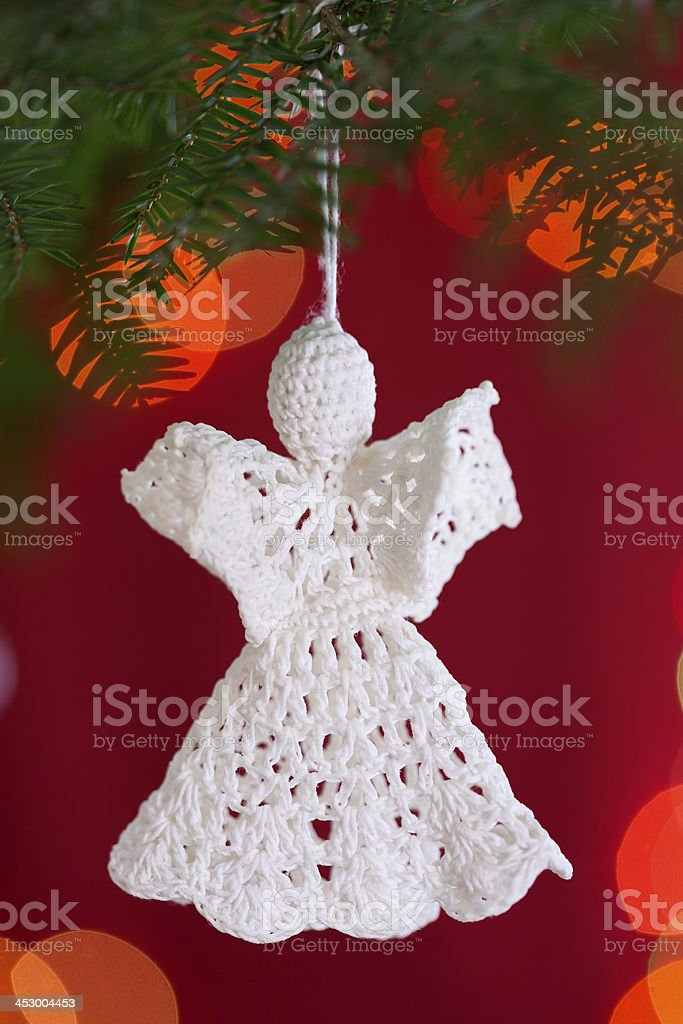 handmade crochet christmas angel ornament royalty free stock photo - Handmade Angels Christmas Decorations
