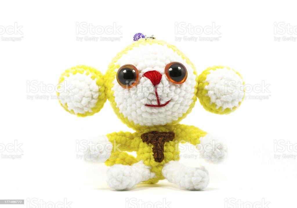 Fotografía de Manualidad Crochet Monos Muñeca Sobre Fondo Blanco y ...