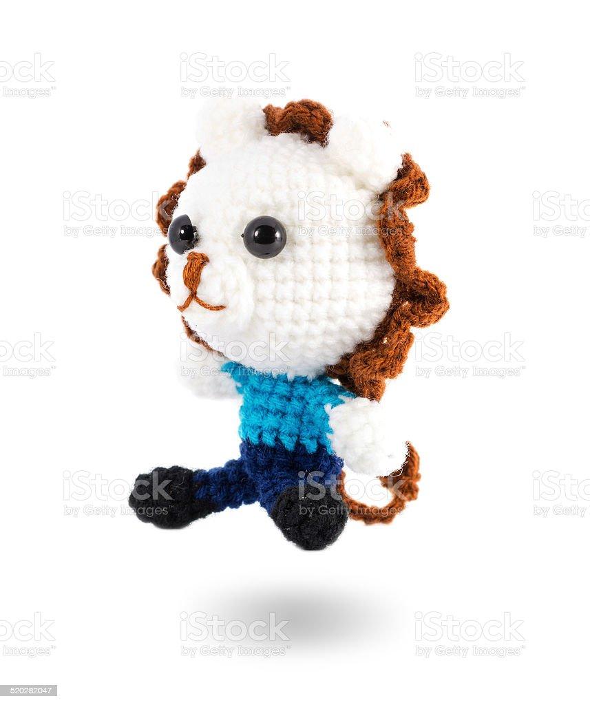 Fotografía de Manualidad Crochet Marioneta De León Blanco Izquierda ...