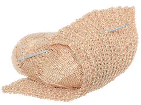 Handmade crochet yarn beige color isolated