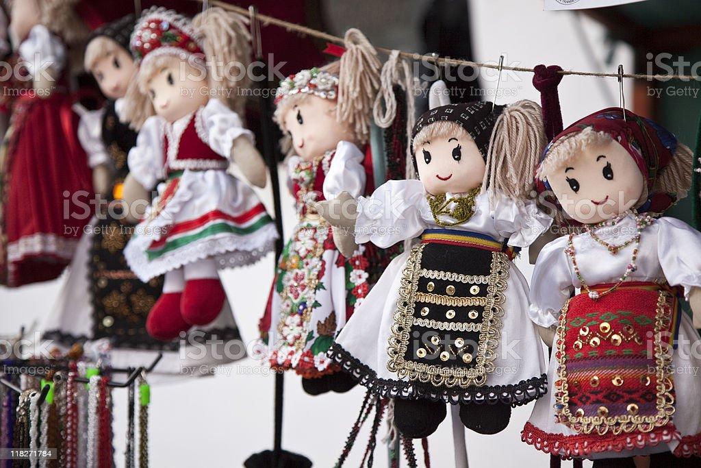 Hand-made dolls royalty-free stock photo