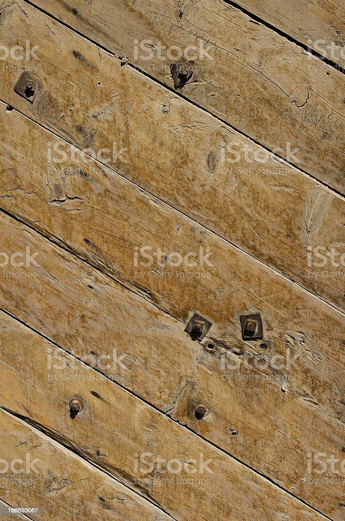 Handmade Door at Bent's Old Fort National Historic Site stock photo