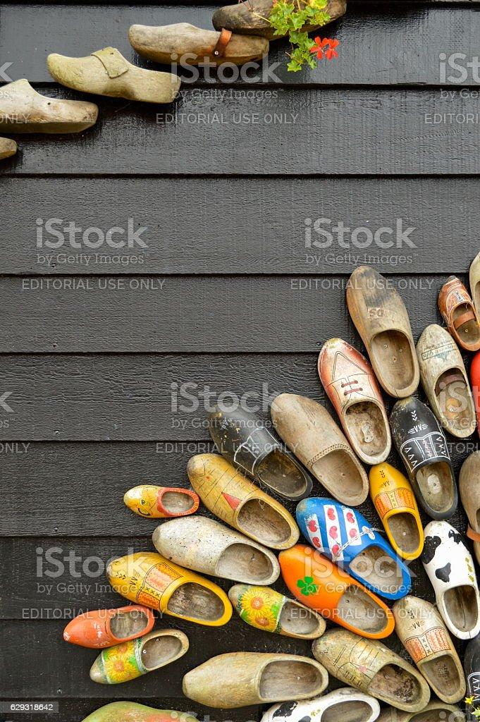 Handmade dutch clogs stock photo