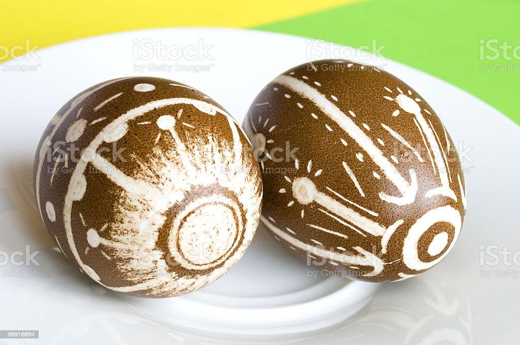 Handmade Easter Eggs royalty-free stock photo
