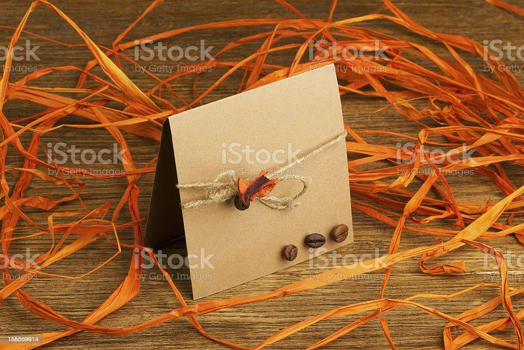수제 축하글 카드 royalty-free 스톡 사진