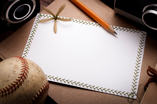 Blank handmade greeting cards with elements of photography