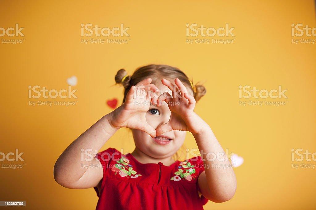 Handmade Hearts stock photo