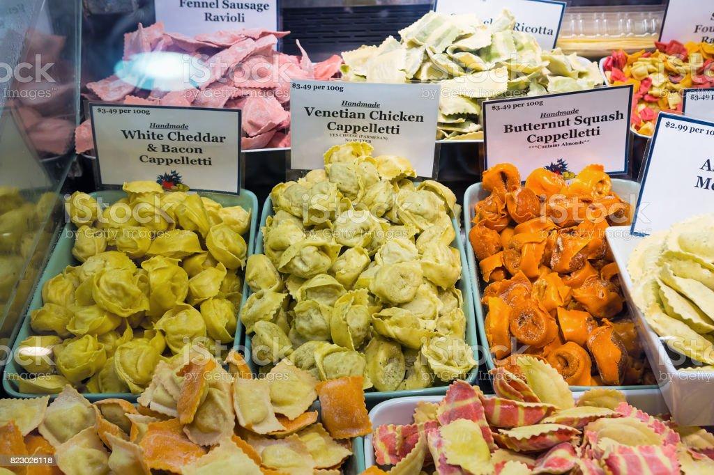 Handmade Italian Stuffed Pasta stock photo