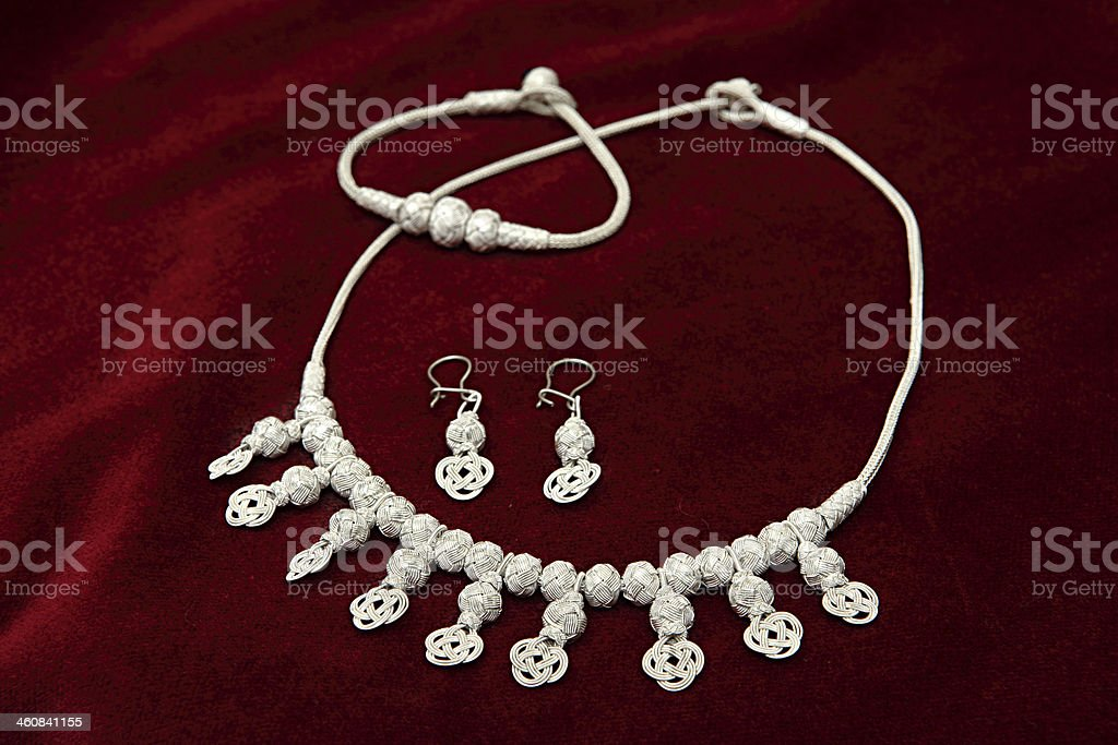 Handmade Jewelery Set stock photo