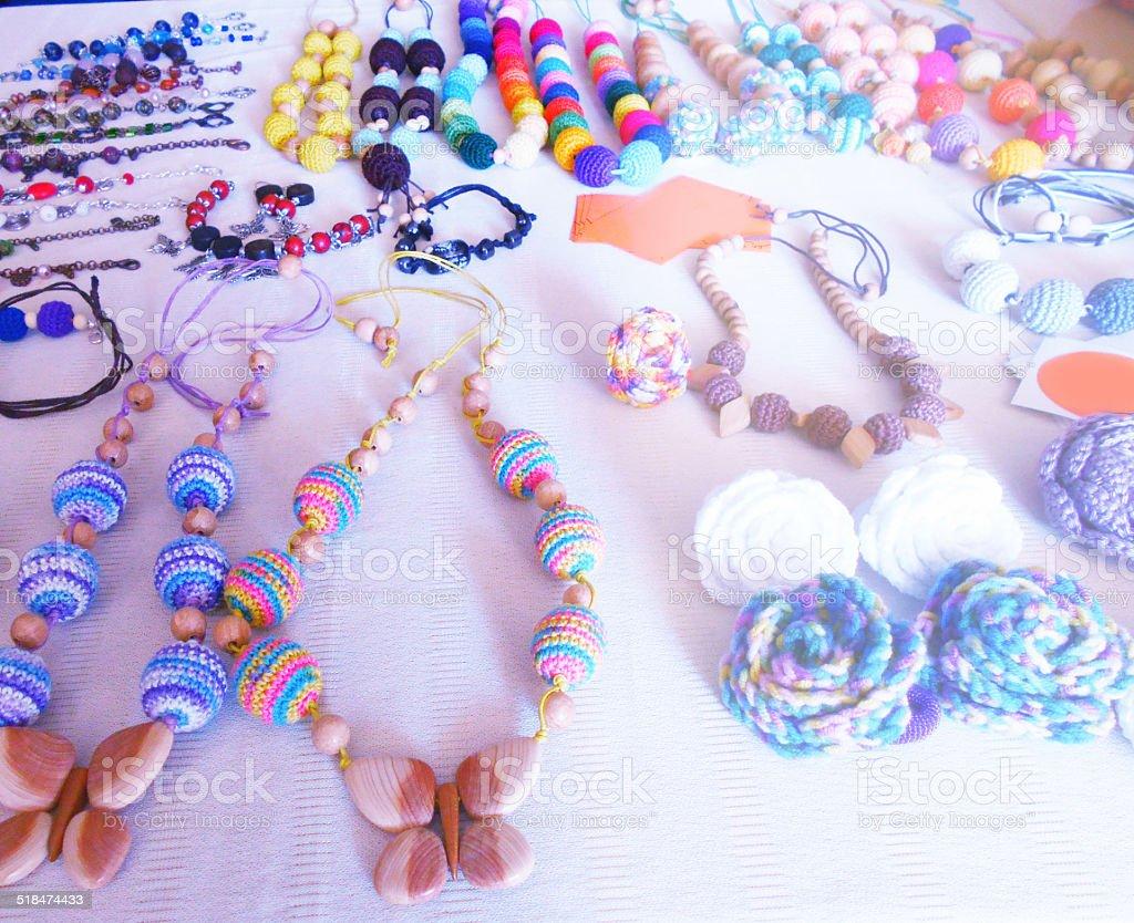 hand-made jewelry stock photo