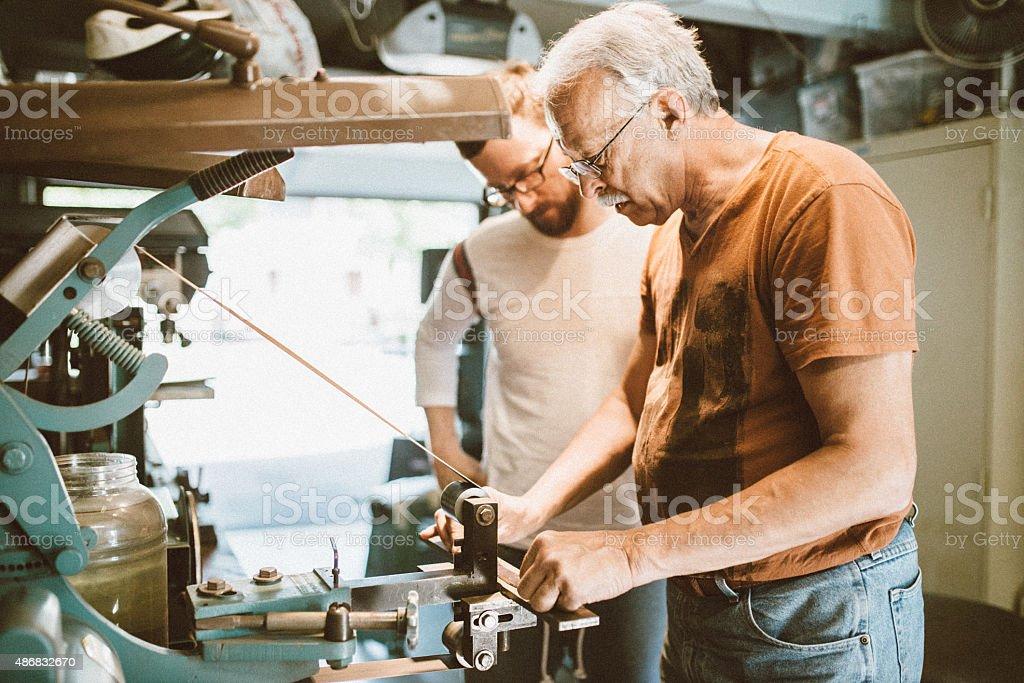 Handmade Knife Workshop stock photo
