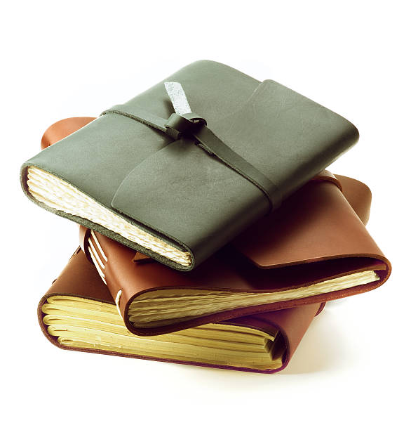 Handmade Leather Notepads stock photo