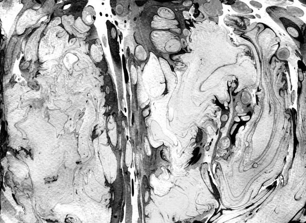 Handmade marble texture. Fluid paints. Can be used for print, background, textile, design of posters, cards, wallpapers. Modern artwork. Marbling drawing brush. White , black and grey colours Handmade marble texture. Fluid paints. Can be used for print, background, textile, design of posters, cards, wallpapers. Modern artwork. Marbling drawing brush. White , black and grey colours. blotter stock pictures, royalty-free photos & images