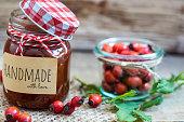 Handmade marmelade from rose hips