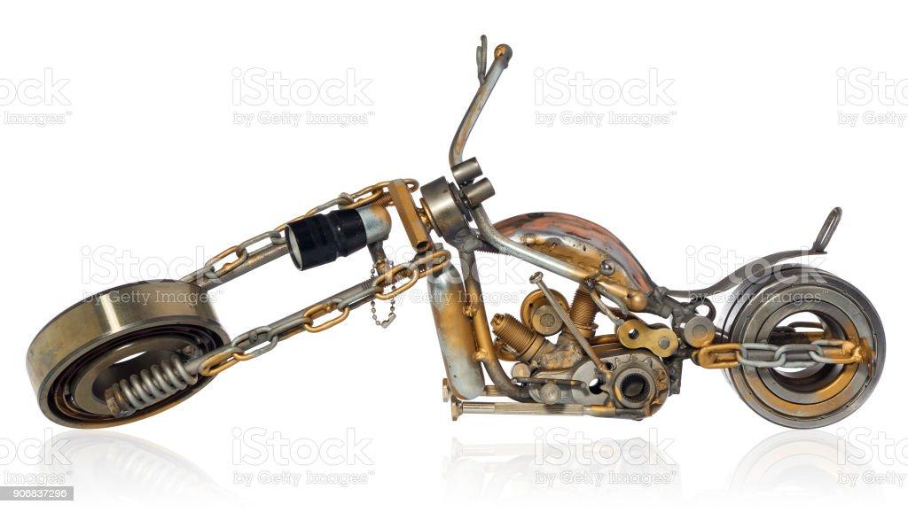 el yapimi motosiklet helikopter olusan metal parcalar rulmanlar stubokretow mum motor teller zincirler kruvazor stok fotograflar altin metal nin daha fazla resimleri istock